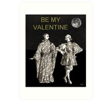 Be My Valentine, Two Men black background Art Print