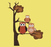 Orange Owls Kids Clothes