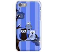 Blue Owls iPhone Case/Skin