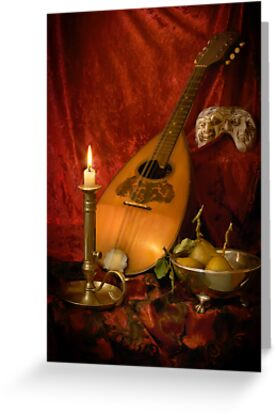 Mandolin and Pears by Gazart