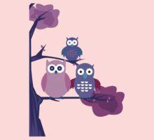 Purple Owls Kids Clothes