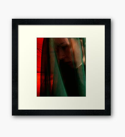 Through a Green Veil Framed Print