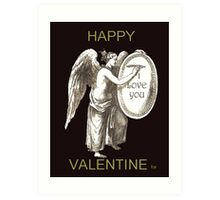 Angel HAPPY VALENTINE Art Print
