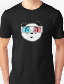 Panda - 3D Glasses (Black) T-Shirt