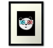Panda - 3D Glasses (Black) Framed Print
