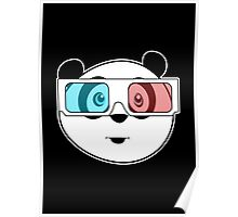 Panda - 3D Glasses (Black) Poster