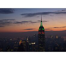 empire state, skyline, twilight Photographic Print