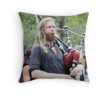 Playing The Pipes Throw Pillow