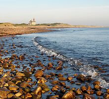 North Light Morning Glow - Block Island by Stephen Cross Photography