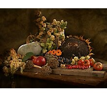 still life of autumn fruits and vegetables Photographic Print