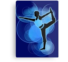 Super Smash Bros. Wii Fit Trainer (Female) Silhouette Metal Print