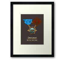 Emperor: Battle for Dune houses Framed Print
