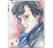 Watercolor portrait of Sherlock  iPad Case/Skin