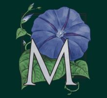 M is for Morning Glory - patch shirt by Stephanie Smith