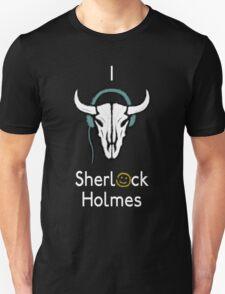 Sherlock - Cow skull (white text) Unisex T-Shirt