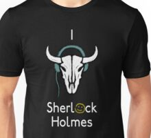 Sherlock - Cow skull (white text) Unisex T-Shirt