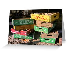 Soda Crates Greeting Card