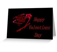 Dark Red Valentine Greeting Card