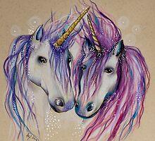 Unicorn Love by Helenfaerieart