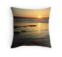 Sunset at White Park Bay, Ireland. Throw Pillow