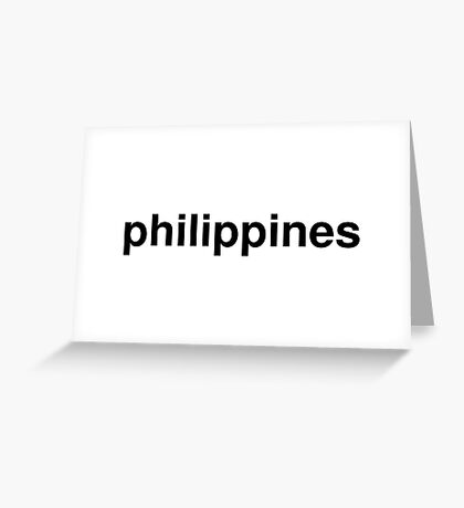 philippines Greeting Card