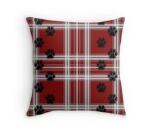 Paws on a pillow (red) Throw Pillow