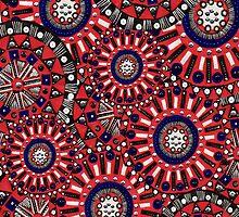 Pink circles  by alicebardgett