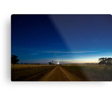 Country Road by Moonlight. Metal Print