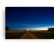 Country Road by Moonlight. Canvas Print