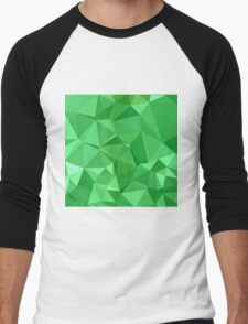 Inchworm Green Abstract Low Polygon Background T-Shirt