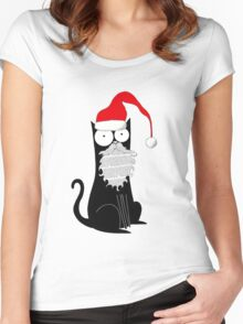 Santa Claws Women's Fitted Scoop T-Shirt