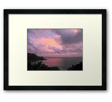 Pink Sunset in Seychelles Framed Print