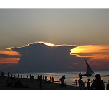 Cloud sunset Zanzibar Photographic Print