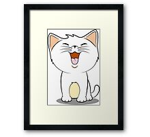 kawaii cat Framed Print