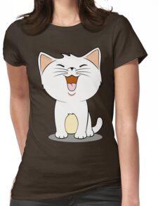 kawaii cat Womens Fitted T-Shirt