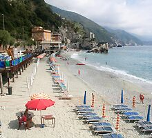 Cinque Terra - Monterosso Beach by Stephen Cross Photography