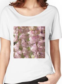 Lavender Rose Pink Abstract Low Polygon Background Women's Relaxed Fit T-Shirt