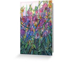 Flower Tangle - Kerry Beazley Greeting Card