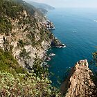 Cinque Terra - Terrace View by Stephen Cross Photography
