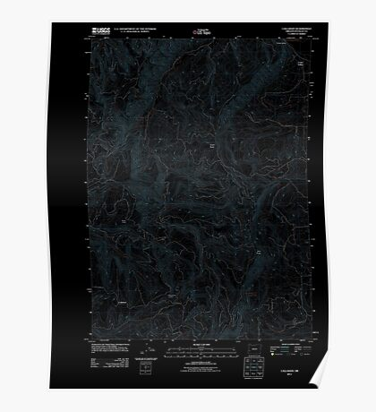 USGS Topo Map Oregon Callahan 20110824 TM Inverted Poster