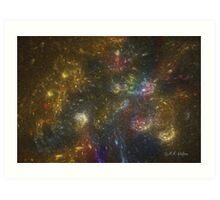 Rainbow Star Galaxy Art Print