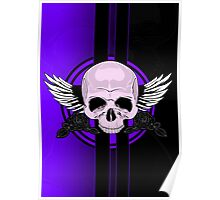 Wing Skull - PURPLE Poster