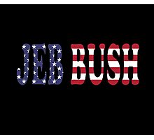 Jeb Bush - President Election Republican Sticker Decal Support Photographic Print