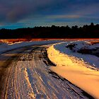 Snowy Sunrise Phippsburg, Maine by moosewinks