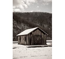 The Railroad Shed Photographic Print
