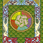 Dogs and Rabbits Celtic Quilt Design by ingridthecrafty