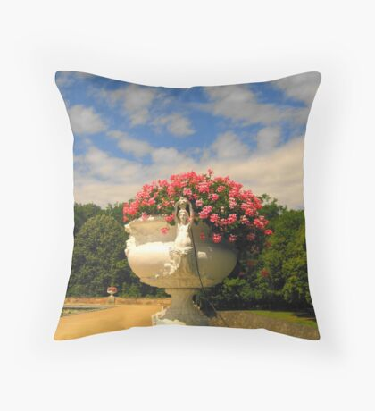 Floating flowers? Loire Valley Throw Pillow