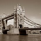 Sepia of London's Tower Bridge by Heidi Hermes