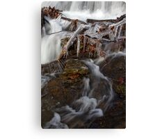 Icicles across the stream Canvas Print
