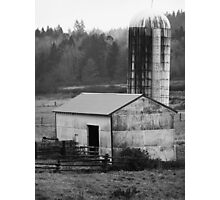 Barn and Silo 1 Photographic Print